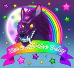 You Smell Nice Today -Lisa Frank style Werewolf by Nashoba-Hostina