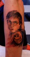 Harry Potter tattoo by 4NGEL5F4LLF1R5T