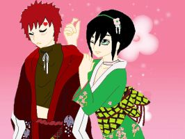 Gaara Toph with Kimono by Night-Fox20