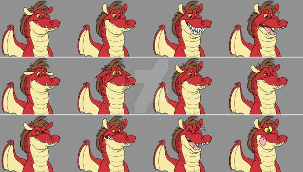 Sunblaze Expression Sheet by Eligecos