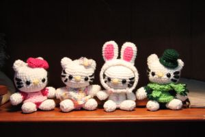 Hello Kitties - Set 1 by CraftedKansas