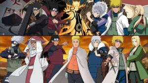 Hokage Collage by Dinocojv