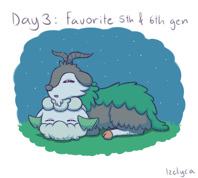 Pokemon drawing challenge Day 3 by Izelyca