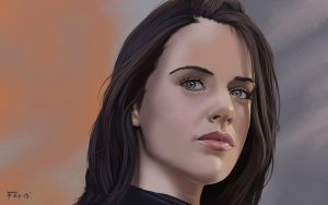 Michelle Ryan: Portrait. by garrypfc
