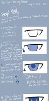 Anime Eye Colouring Tutorial by mjjdcf