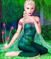Gelid Summer Breeze - Elsa of Arendelle by PovedaM