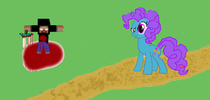 if herobrine visited  ponyville what would he do? by rosetyeler2334