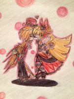 Brick X Blossom Mad Hatter and Queen of Hearts by kuku88