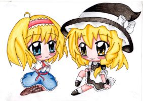 Marisa and Alice by HoshiMichi