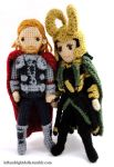 Thor and Loki by leftandrightdolls