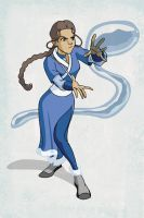 Katara colored by RyanOdagawa