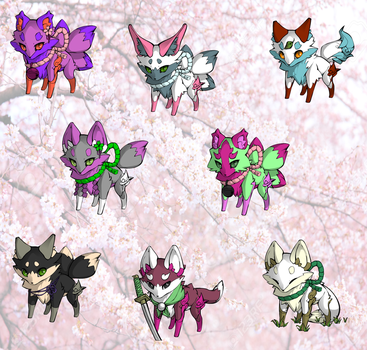 5 point Fox Adopts (4/8 open) by MintyWaffle
