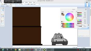 First frame of making a comic strip by AmericanWolf016