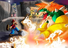 Epic Mario Battles by KickStartDesigns