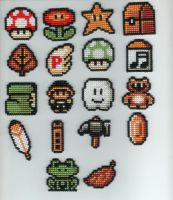 Super Mario Bros. 3 Items by StitchPlease