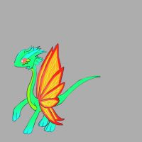Mature form, Moon butterfly dragon, Gemerald by minecraftmobs456