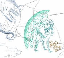 Sketch scenes: Protector by Sirzi