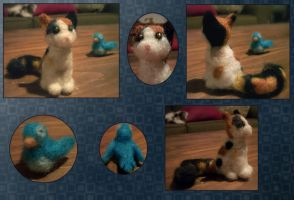 Needle Felt Experimentation by aureath