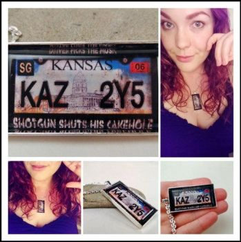 KAZ2Y5 License Plate Necklace by NasuOni