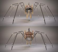 Mechanical Spider | Front - back by abdelrahman