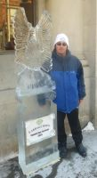 Me and Eagle Ice Sculpture by Codetski101