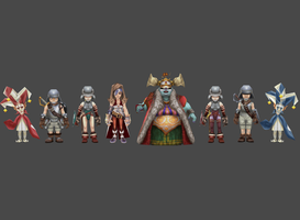FF9 Alexandrian court pack by Lopieloo
