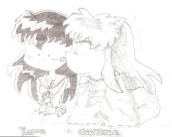 inu and kagome by 15cocopuffs