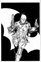 Red Hood leveled b and w inks - Dec28th2013 by SpiderGuile