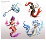 Mermaid Mage Variations by AmandaKieferArt