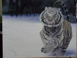 Tigre na Neve by WilliamSoaresArt