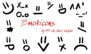 Emoticons by 99-in-the-shade