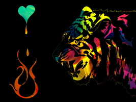 Rainbow tiger by magnusthewhite