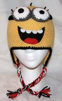 Two Eyed Minion Beanie by rainbowdreamfactory