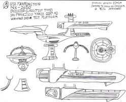 USS Farrington Freehand Study 1 by galaxy1701d