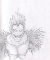Deathnote - Ryuk Lineart by Aeyze