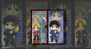 FMA - BOOKMARK SET by Nekozumi