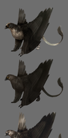 four types of gryphons by Moehn