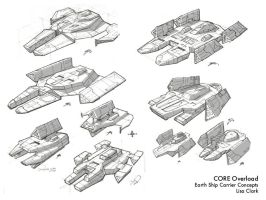Earth Ship Carrier Concepts by myriamelle
