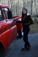 Bella and her truck 3 by HarajukuShoujo