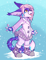 Catch a Snowflake - Commission by strawberryneko33