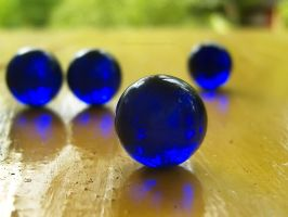 Blue Marbles 4: 4 Blue Marbles by richardxthripp