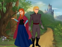 Anna and Kristoff by Kailie2122