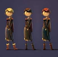 Female Chara Designs by Abuze