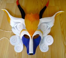 Fenrir from Final Fantasy 9 leather mask by Masktastic