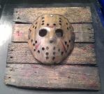 battle damage Jason mask with display by ibentmywookiee