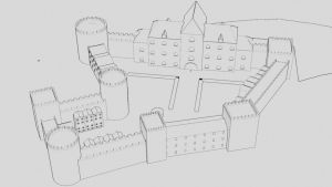 WIP Castle background by Smidy3