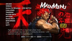 SSF4 AE Akuma Menu by Augh