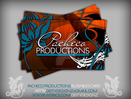 Pacheco Prod Business Card by DeityDesignz