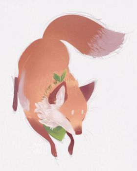 fox-and-flowers by scrii