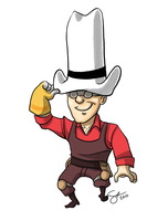 TF2 - Engineer is a real man by SuperKusoKao